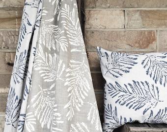 Fern Tablecloth linen, hand printed