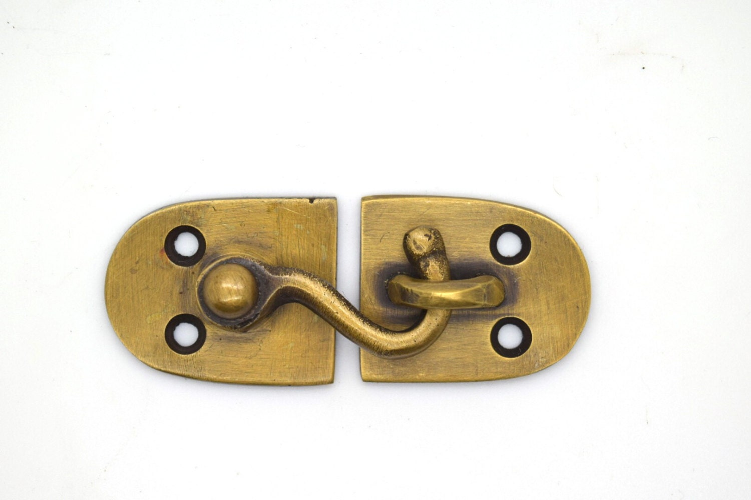 Cupboard Catch Lock Bolt Brass Cabinet Hardware