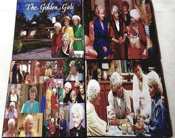 Golden Girls Ceramic Tile Drink Coaster Set