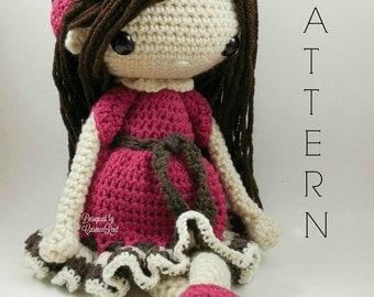 Nathalie-Amigurumi Doll Crochet Pattern PDF