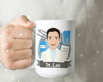 Personalized Gift for Dentist - Dentist Mug - Dentist Cup - Cute Dentist Cup - Dentist Gift - Personalized Dentist Gift - Gift for Dentist