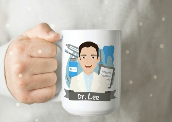 Personalized Gift for Dentist Dentist Mug Dentist Cup