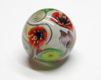 Anemone Glass Beads - Lampwork Focal Bead - Anemone Bouquet - Lampwork Beads - Glass Bead Jewelry - Flower Necklace - Glass Pendant – OOAK