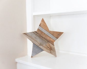 Rustic Home Decor, Farmhouse Decor, Wood Star, Wall Decor, Room Decor, Reclaimed Wood, Woodland Nursery, Kitchen Decor, Farmhouse Chic