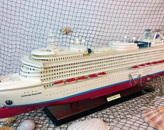 Sapphire Princess Ready Display Wooden Cruise Ship Model