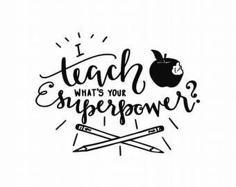 Teacher Decal - Gift For Teacher - Teacher Appreciation - Teachers - Teacher Sticker - Teacher Superpower - Teacher Cal Decal - Teacher