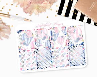 Slowly Drifting - Floral Hot Air Balloon Themed Planner Stickers // Full Box Checklists // Perfect for Erin Condren Vertical Life Planner