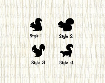 Squirrel Car Decal, Squirrel Decal, Tree Squirrel decal, Ground Squirrel Decal, Rodent Car Decal, Sciuridae Decal, Flying Squirrel Decal