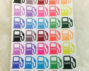 Rainbow Gas Pump Planner Stickers | Erin Condren & Plum Paper Planner