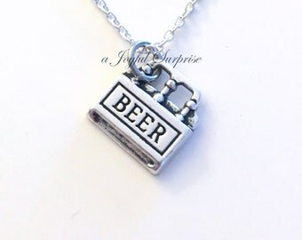 Necklace for Men Jewelry, Beer Necklace, Gift for 21st Birthday Present Six Pack Charm Boyfriend Funny food Man Men Girl Husband Dad Fiance