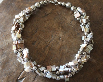 Vintage shell multistrand necklace