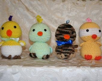Handmade Crocheted Chicks