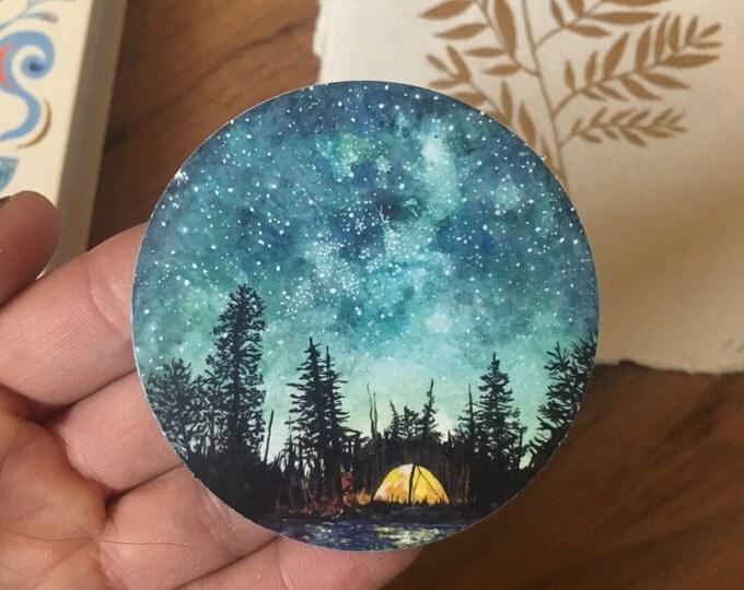 Watercolour Camping Sticker