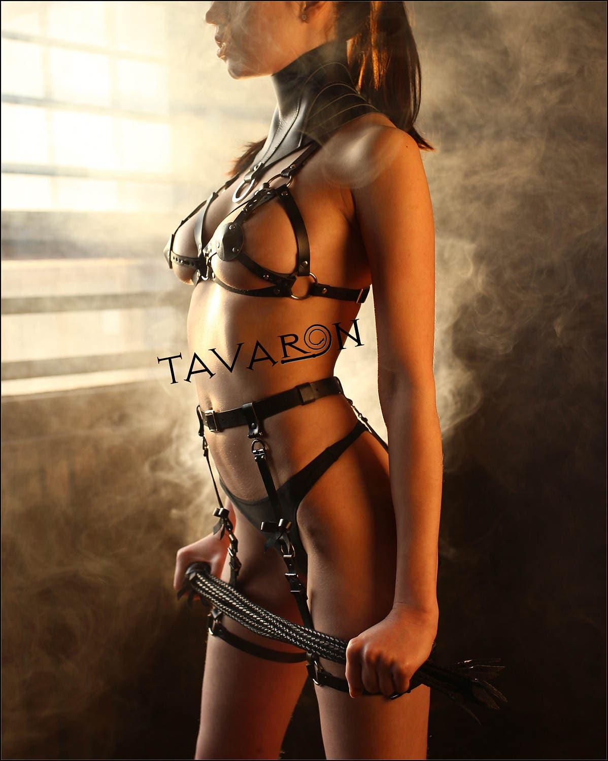 Boobs tied with belt