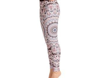 High Waist Yoga Pants Women - Unique Yoga Leggings, Mandala Printed Leggings Tights