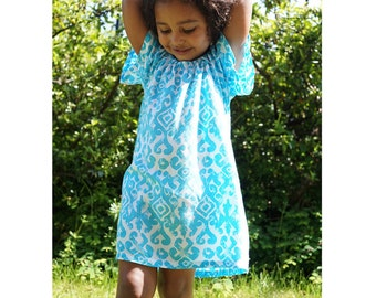 4T Girls peasant dress, girls fall dress, girls' clothing, flower girl dress, toddler fall dress / baby girl dresses / Toddler Dress