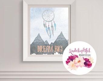 Custom Printable Wall Art - Dream Big!