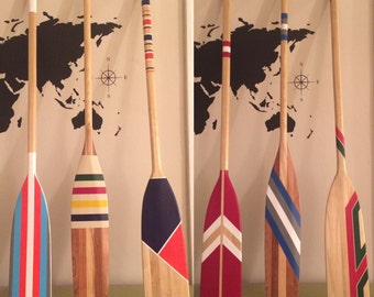 Oars // Hand Painted Canoe Paddle // Canoe Oar // Home Decor // Personalized // Wedding // Farmhouse // Birthday Gift / Painted Paddles