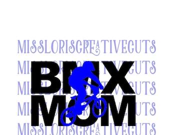 BMX Mom knock out  SVG Cut file  Cricut explore filescrapbook vinyl decal wood sign cricut cameo Commercial use