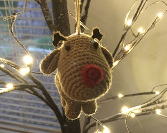 Red Nose Reindeer Ornament