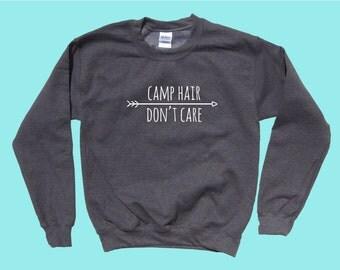 Camp Hair Don't Care - Crewneck Sweater