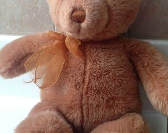 GUND Tender Teddy 6415 Plush Teddy Bear with Gold Bow