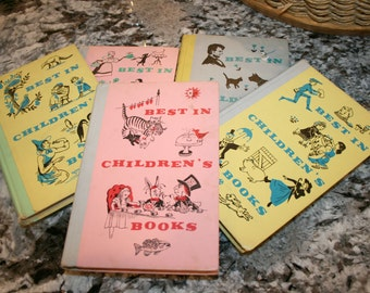 Set of Five Best In Children's Books//By Nelson Doubleday, Inc.//Vintage Children's Books