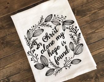 In Christ Alone Tea Towel