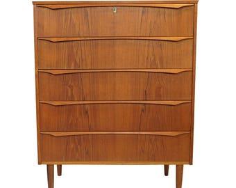 Danish Vintage Teak Dresser from the 1950's