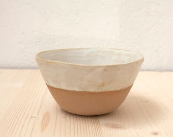 Enamelled stoneware Bowl, shaped by hand