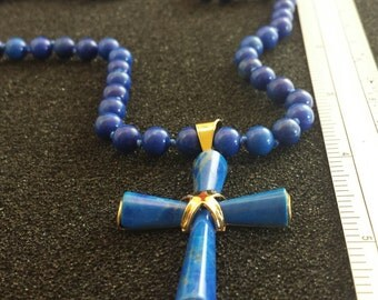 Costume Jewelry Cross With Beaded Necklace