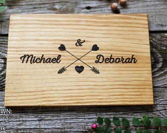 Wedding Gift Cutting Board Personalized Gift for couple Engagement gift Housewarming gift Unique gift for bride Custom Wedding present