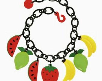 Collana, necklace, collier Marion Godart, fruit