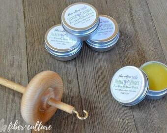 Silken Spindle Natural Wood Polish, .5 oz Tin, Beeswax Wood Balm, Handcrafted Eco Friendly Wood Polish