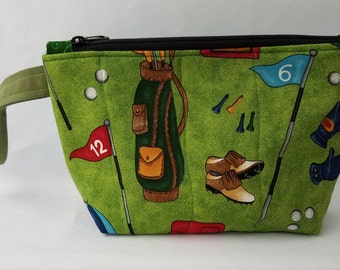 Golfing Quilted Wristlet