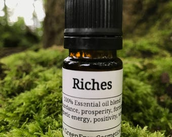 Riches- Essential oil blend, manifest, law of attraction, abundance, prosperity, attract money, magnetic energy, positivity
