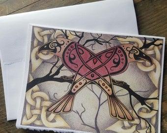 Celtic Raven Art Card
