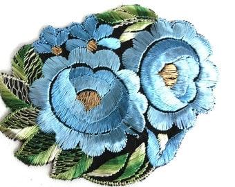 Applique, Flower applique, 1930s vintage embroidered applique. Vintage floral patch, sewing supply, antique patch. #64AGC8K2C