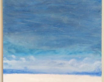 Rothclouds - abstract horizons - Original oil painting on canvas 3/3