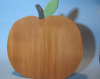 Handmade Wooden Apple Breadboard serving platter plate cheese fruit tray hanging