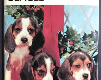 Vintage 'enjoy your BEAGLE' book pamphlet The Pet Library Dog Color Photos 1970's Retro