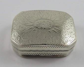 Sterling Silver Vinaigrette made in Birmingham in 1812