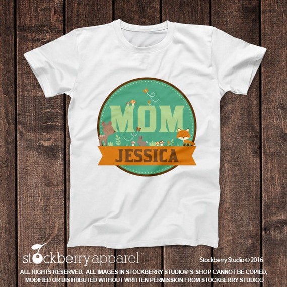 Woodland Mom Of The Birthday Boy Shirt