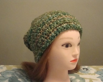 Women's Green Slouchy Hat,
