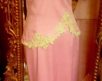 Vintage Nine 2 Nine Pink Antique Look Gown