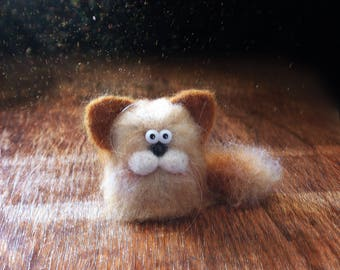cute cat/felt toy/felt cat/needle felted cat/soft toy/felt animals/friendly toys eco/stuffed toy