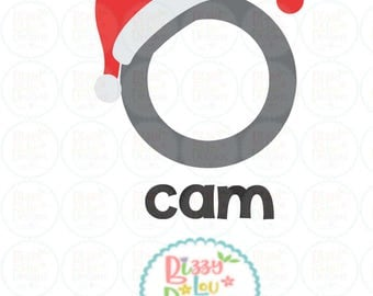 santa cam SVG, DXF, EPS santa cam cut file santa camera svg santa cam ornament svg camera svg my santa cut file christmas svg spy cam svg