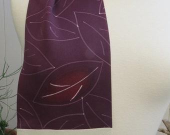 Purple Silk Scarf from re-purposed Japanese Kimono
