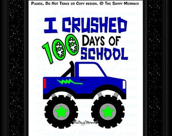 100th Day SVG file- 100 days of School SVG Cut file- Boys 100th Day of School Shirt Svg file- Silhouette Dxf- Cricut Vinyl- Iron on Design