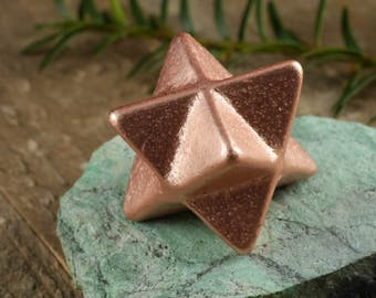 3.8cm COPPER Merkaba Star from Michigan, USA - Copper Gift, Copper Star, Copper Jewelry, Copper Decorations, Merkaba Pendant E0203